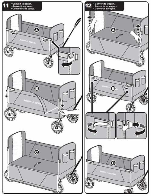 Xe Keo Fold Wagon 3 Trong 1 Radio Flyers (7)